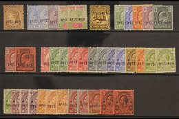 1887 - 1926 SPECIMEN SELECTION  Fresh Mint Selection With 1887 6d Yellow Brown, 1889 2½d Blue, 1893 4d And 5d, Ed VII Va - Turks And Caicos
