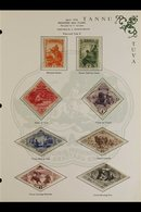 1934-1938 MINT NEW CURRENCY COLLECTION  Presented In Mounts On Dedicated, Illustrated Printed Pages & Includes The 1934( - Tuva