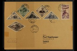 1937  (March 6th) Large Registered Cover To Lucerne Switzerland From Kizil Bearing Partial 1936 Anniversary Of Independe - Tuva