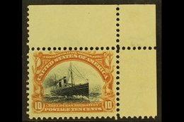 1901  10c Yellow Brown And Black Ocean Liner, Sc 299, Superb NHM Corner Copy. For More Images, Please Visit Http://www.s - Unclassified