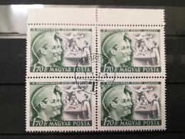 FRANCOBOLLI STAMPS UNGHERIA MAGYAR POSTA 1950 USED  INTERNATIONAL CHILDREN DAY QUARTINA HUNGARY - Ungheria