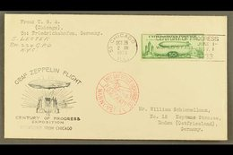 1933  50c Green Century Of Progress Stamp Tied To Century Of Progress Exposition Envelope, Despatched From Chicago To Ge - Unclassified