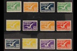 1928  Air Albatross Complete Set (Scott C14/25, SG 569/80), Fine Mint, Fresh & Scarce. (12 Stamps) For More Images, Plea - Uruguay