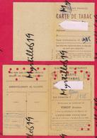 Lot 2 X Cartes De Tabac - Ille-et-Vilaine - 1947 - Historical Documents
