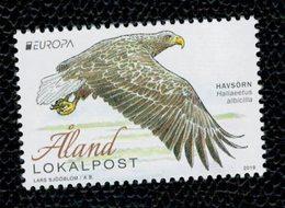 Aland 2019 Europa -National Birds (White -Tailed Eagle) 1v Complete Set  ** MNH - Aland