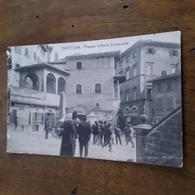 Cartolina Postale 1914, Cortona Piazza Vittorio Emanuele - Arezzo