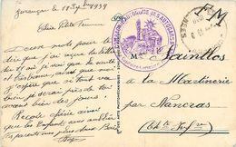 Cachet Compagnie Autonome Des Autocars N° 181 ( 18e Train Jurançon ) 18 Septembre 1939 Sur Cpa PAU - FM - Marcophilie (Lettres)