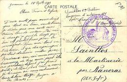Cachet Compagnie Autonome Des Autocars N° 181 ( 18e Train Jurançon ) 15 Septembre 1939 Sur Cpa PAU Le Musée - FM - Marcophilie (Lettres)