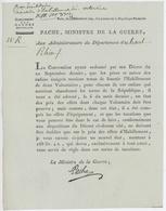 Paris 1792 Signature Pache,Ministre De La Guerre Fournitures D'Habillement - Historical Documents