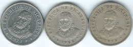 Nicaragua - 10 Centavos - 1939 (KM17.1) 1962 (KM17.2) & 1972 (KM17.2a) - Nicaragua