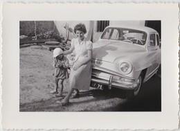 PHOTOGRAPHIE ORIGINALE AUTOMOBILE SIMCA ARONDE - Automobiles