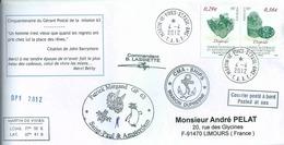 YT 754 755 - Diopside - Posté à Bord Du MD - Gérant Postal De Martin De Viviès - Saint Paul Amsterdam - 04/04/2012 - French Southern And Antarctic Territories (TAAF)