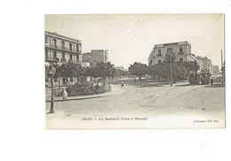 Cpa - Algérie - ORAN - Boulevards Fulton Sébastopol - Tramway Publicité CHOCOLAT LOUIS OXYGÉNÉE CUSENIER - N°123 ND - Oran