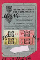 Carte De L'Union Nationale Des Combattants - Section De Daoulas - Hanvec - Militaria