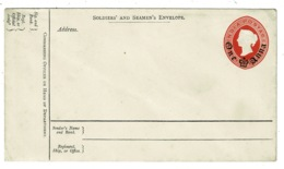 Ref 1304 - Unused Soldiers' And Seamen's Military Postal Stationery Envelope - India One Anna Overprint - Covers