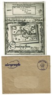 """Ref 1304 - 1944 Airgraph """"Christmas 1994 Greetings"""" - Essex Regiment. CMF - Stamped Stationery, Airletters & Aerogrammes"""