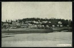 Ref 1304 - Early Plain Back Card - Proof Postcard? - Killisnoo Village - Alasaka USA - United States