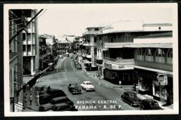 Ref 1304 - Real Photo Postcard - Cars & Kodak Art Deco Building - Avenida Central Panama City - Panama