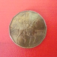 20 Kronen Münze Aus Tschechien Von 1993 (sehr Schön) - Repubblica Ceca