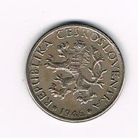// TSJECHOSLOWAKIJE  1 KORUNA  1946 - Tchécoslovaquie