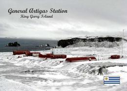 Antarctica General Artigas Station Uruguay New Postcard Antarktis AK - Ansichtskarten