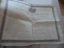 Grande Affiche Placard 4X A4 Environs Faculté De Droit De Paris Annonce Soutenance 08/03/1825 A.Milbert - Historical Documents