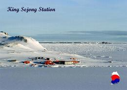 Antarctica King Sejong Station South Korea New Postcard Antarktis AK - Ansichtskarten