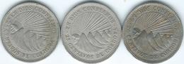 Nicaragua - 25 Centavos - 1939 (KM18.1) 1964 (KM18.2) & 1972 (KM18.3) - Nicaragua