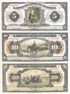 Mexico Estado De Chihuahua 6 Note Set 1913 COPY - Mexico