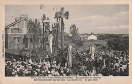 SION Par Saint Hilaire De Riez - Inauguration Du Calvaire . Erection Du Christ Sur La Croix  Le 24 Août 1924. Rare - Saint Hilaire De Riez