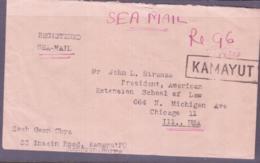 BURMA / MYANMAR - 1955- REGISTERED SEAMAIL COVER KAMAYUT TO CHICAGO, USA - Myanmar (Burma 1948-...)