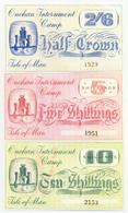 Isle Of Man Onchan Internment Camp 3 Note Set WWII COPY - Isle Of Man / Channel Island