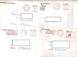 Lot 5 Lettre Flamme Assemblee Nationale  Depute Haut-rhin - Marcophilie (Lettres)