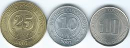 Nicaragua - 10 Centavos - 1978 (KM31) & 2007 (KM105); 25 Centavos - 2007 (KM99) - Nicaragua