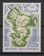 Comores - 1974 - Poste Aérienne PA N°Yv. 61 - Carte De Mayotte - Neuf Luxe ** / MNH / Postfrisch - Isole Comore (1950-1975)