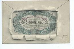 REPRESENTATION BILLET DE BANQUE NATIONALE DE BELGIQUE 500 FRANCS - Coins (pictures)