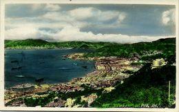 China, HONG KONG, Views From The Peak (1950s) Tinted RPPC - China (Hong Kong)