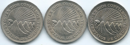 Nicaragua - 50 Centavos - 1956 (KM19.1) 1965 (KM19.2) & 1974 (KM19.3) - Nicaragua