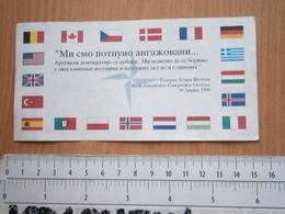 NATO BOMBING SERBIA 1999 DOCUMENT BROCHURE AD ANTI PROPAGANDA SLOBODAN MILOSEVIC EX YUGOSLAVIA USA GENERAL Henry Shelton - Sonstige