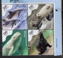 SOUTH KOREA, 2018, MNH, MARINE SPECIES, WHALES, DOLPHINS, SEALS, 4v - Whales