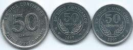 Nicaragua - 50 Centavos - 1983 (KM42a) 1997 (KM88) & 2007 (KM88b) - Nicaragua