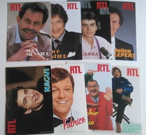 PETIT LOT CARTES PUB RTL - LEPERS NAGUI FABRICE SABATIER ZEGUT MENIER GROUCHO CHICO CARRA - Publicités