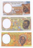 Central African Republic 5 Note Set 1993 COPY - República Centroafricana