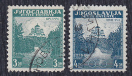 Yugoslavia 1937 Little Entente, Used (o) Michel 334-335 - Gebraucht