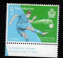 San Marino 2019 Sport Football Soccer European Championship U21 - Europei Calcio U21 1v Complete Set   ** MNH - Nuovi