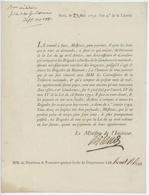 """Paris 1792 Ministre De L'intérieur """"Gendarmerie"""" - Historical Documents"""