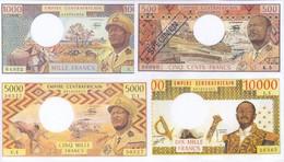Central African Empire 4 Note Set 1978 COPY - Repubblica Centroafricana