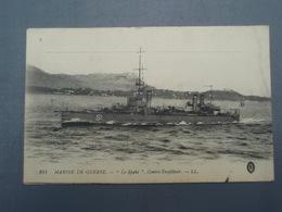 """Cpa Marine De Guerre """" Le Spahi """" Contre-Torpilleur Cachet DEPOT De RECEPTION Des Chevaux Etrangers BREST 1915 - Guerre"""