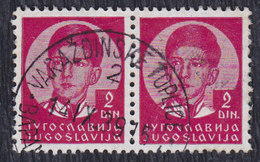 Yugoslavia 1939 King Petar II, Postmark Varazdinske Toplice - Gebraucht