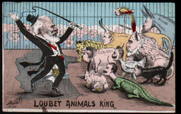 Illustrateur Politique Satirique Mille, Loubet Animals King, ( Loubet, Le Roi Des Animaux) - Mille